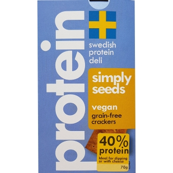 Swedish Protein Deli Simply Seeds-Crackers, 10 x70g