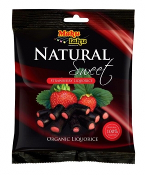 Makulaku Natural Sweet Strawberry Finnisches BIO-Lakritz, 12 x 80g