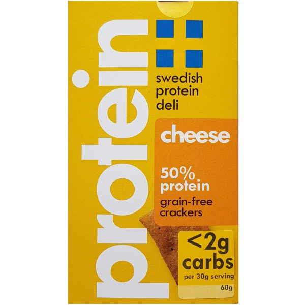 Swedish Protein Deli Cheese-Crackers, 10 x 60g