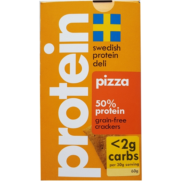Swedish Protein Deli Pizza-Crackers, 10 x 60g