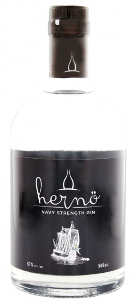 Hernö Navy Strength Gin 57% vol., Flasche