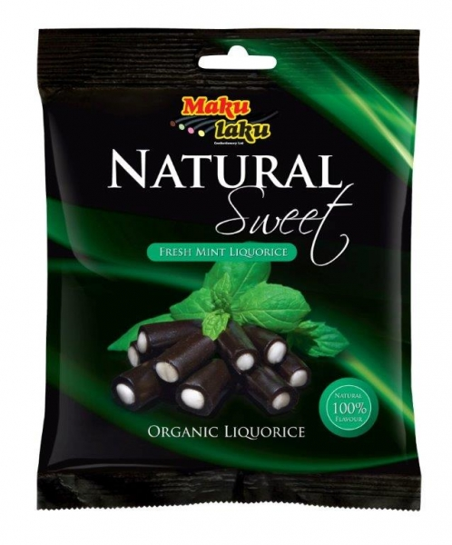 Makulaku Natural Sweet Fresh Mint Finnisches BIO-Lakritz, Tüte